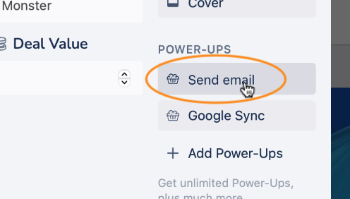 Crmble Gmail Topping Send email button