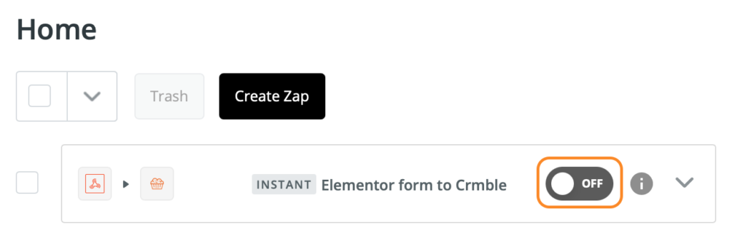 """Turn you zap """"On"""""""