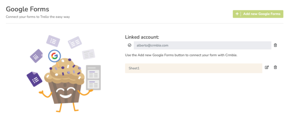 Connect your Google Sheet with Crmble