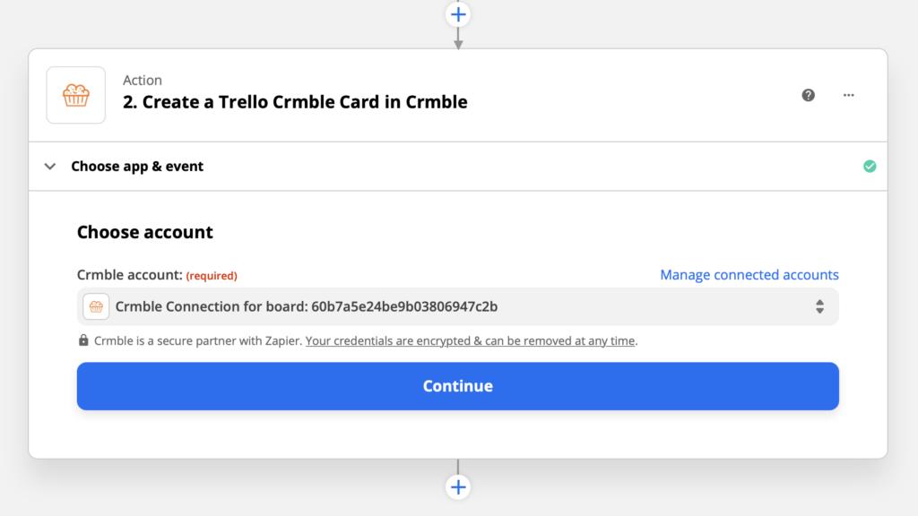Create a Crmble card