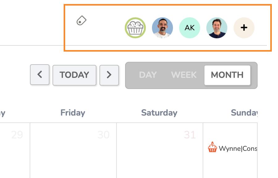 Crmble calendar filter by member or label